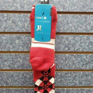 Stance Fusion Basketball DROP ZONE Red/White Men's